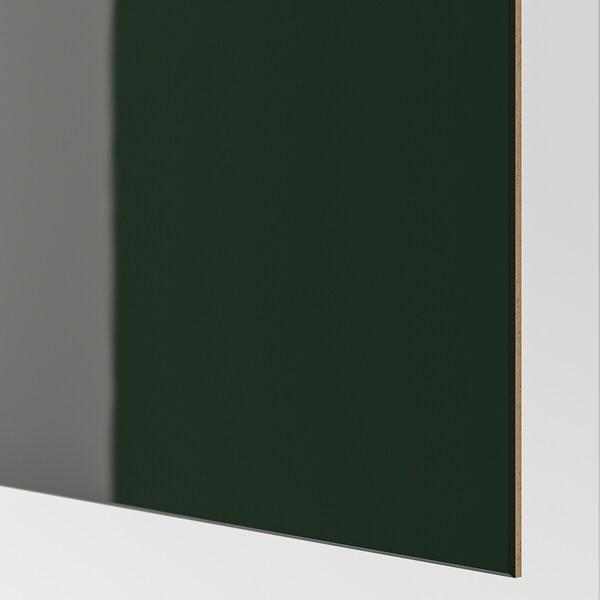 HOKKSUND skyvedører par høyglans mørk grønn 200.0 cm 236.0 cm 8.0 cm