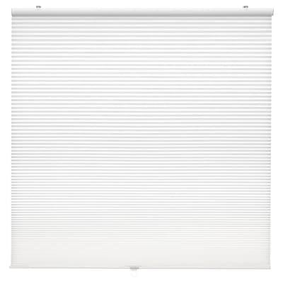 HOPPVALS Plisségardin, dobbel, hvit, 100x155 cm