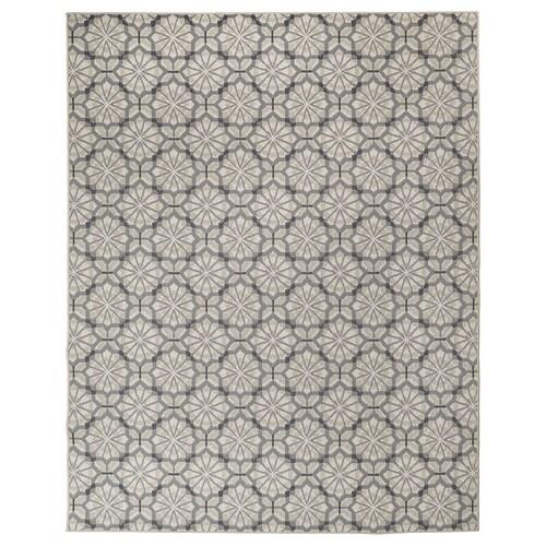 HUNDSLUND teppe flatvevd, inne/ute grå/beige 250 cm 200 cm 4 mm 5.00 m² 1295 g/m²
