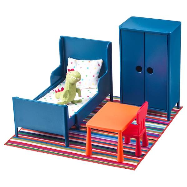 HUSET dukkemøbler, soverom 32 cm 21 cm 17 cm