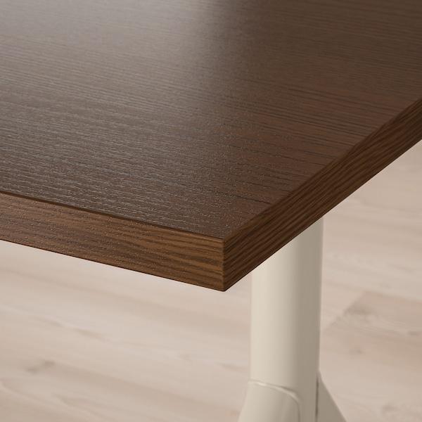 IDÅSEN arbeidsbord brun/beige 120 cm 70 cm 65 cm 79 cm 70 kg