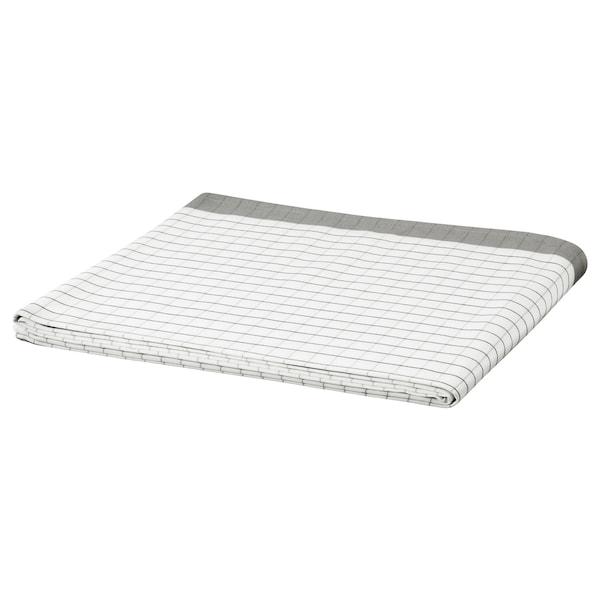 IKEA 365+ Duk, hvit/grå, 145x240 cm