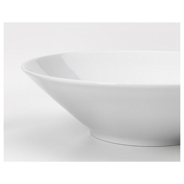 IKEA 365+ Dyp tallerken/bolle, skrå sider hvit, 22 cm