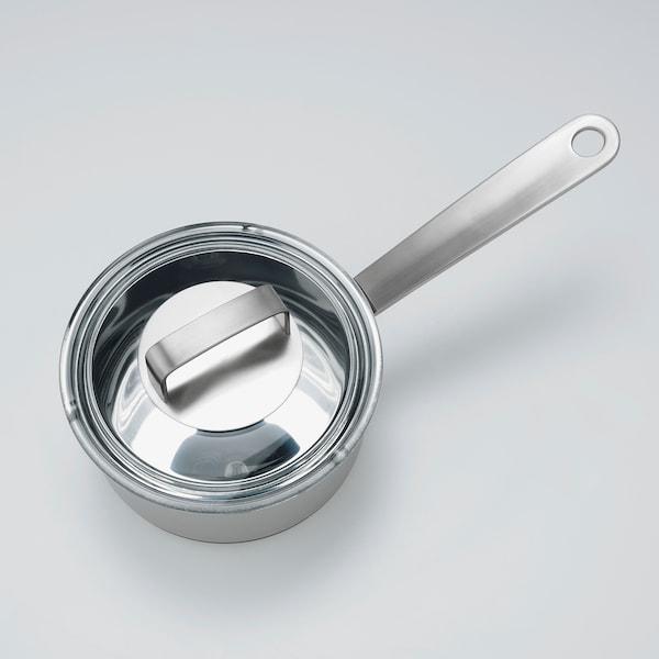 IKEA 365+ Kasserolle med lokk, rustfritt stål/glass, 1 l