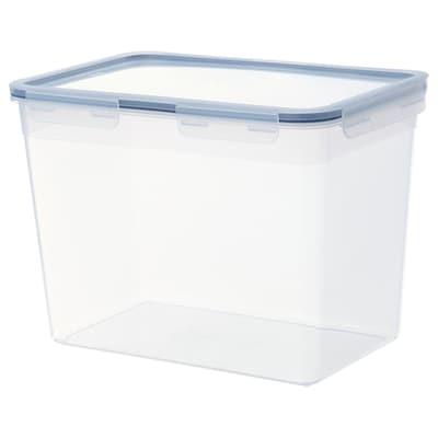 IKEA 365+ Matoppbevaring med lokk, rektangulær/plast, 10.6 l