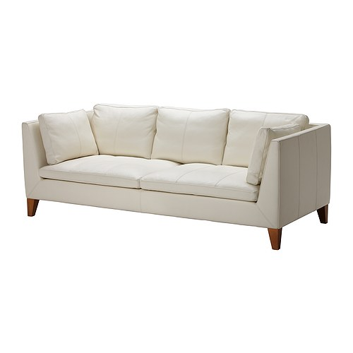 IKEA STOCKHOLM 3-seter sofa IKEA Kraftig og lettstelt skinn som eldres vel.