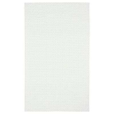 INBJUDEN Duk, hvit/grønn, 145x240 cm