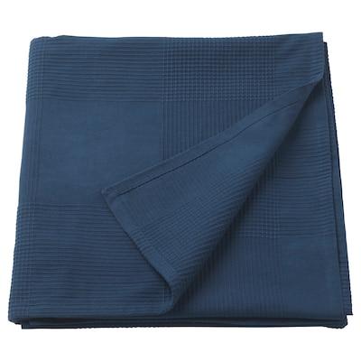 INDIRA sengeteppe mørk blå 250 cm 150 cm