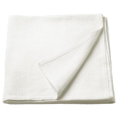 INDIRA sengeteppe hvit 250 cm 150 cm