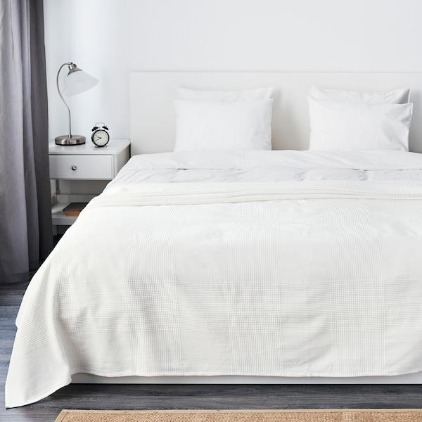 INDIRA sengeteppe hvit 250 cm 230 cm