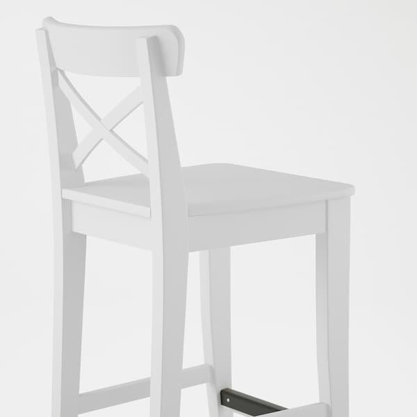 INGOLF Barstol, hvit, 63 cm
