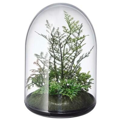 INVÄNDIG kunstig terrarium, kuppel 15 cm 10 cm