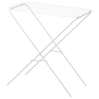 JÄLL tørkestativ, inne/ute hvit 79 cm 40 cm 82 cm