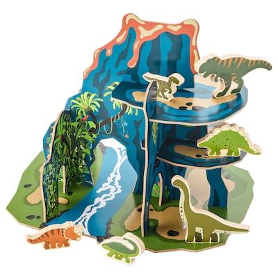 JÄTTELIK Dinosaurverden, sett med 12 deler