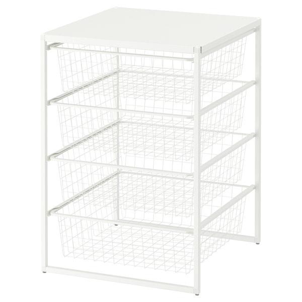 JONAXEL Oppbevaringskombinasjon, hvit, 50x51x70 cm