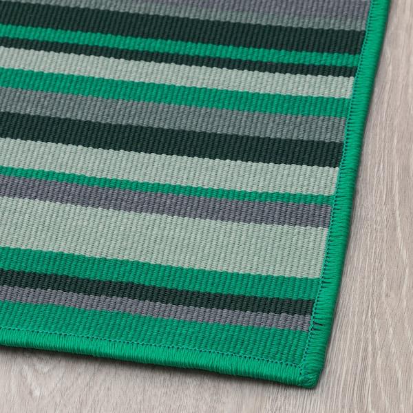 KÄRBÄK Teppe flatvevd, inne/ute, grønn, 70x100 cm