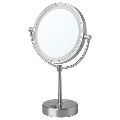 KAITUM Speil med integrert belysning, batteridrevet, 20 cm