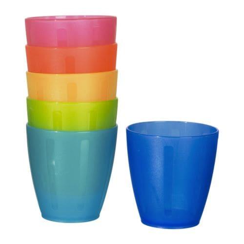 KALAS Plastkrus flere farger Volum: 20 cl Antall i pakken: 6 stk.