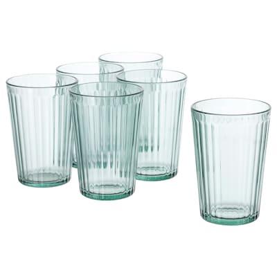 KALLNA Glass, grønn, 31 cl