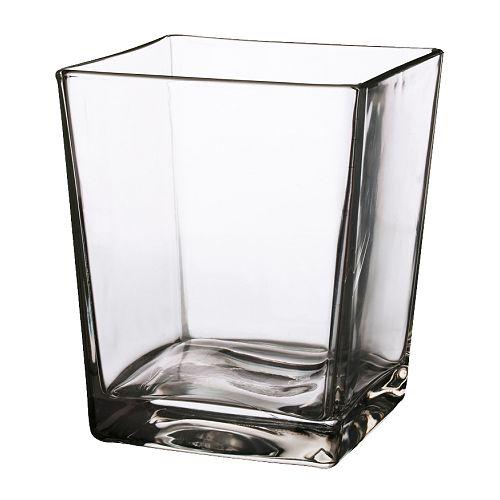 KANIST Vase, klart glass Høyde: 17 cm