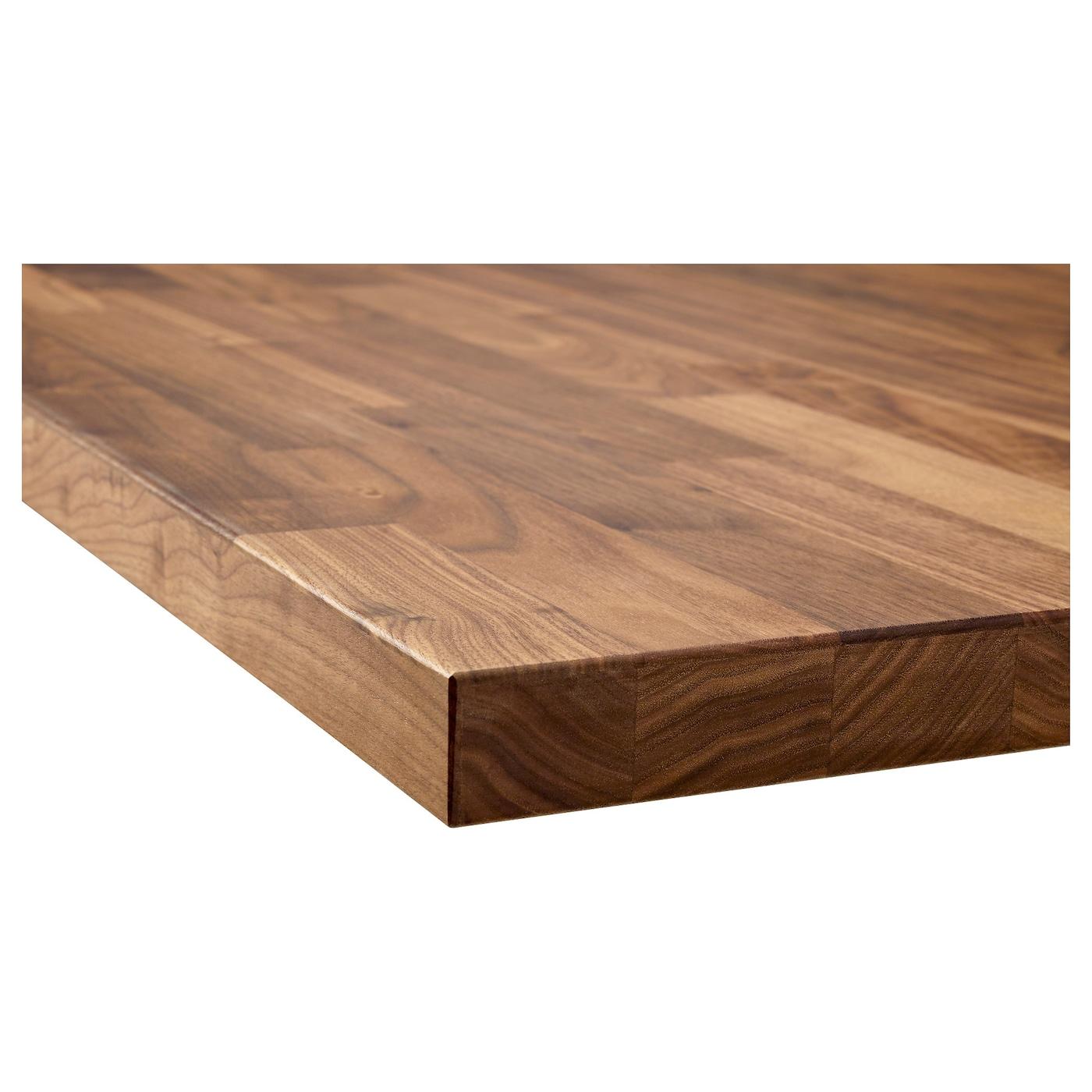 KARLBY Benkeplate, valnøtt/finer, 246x3.8 cm