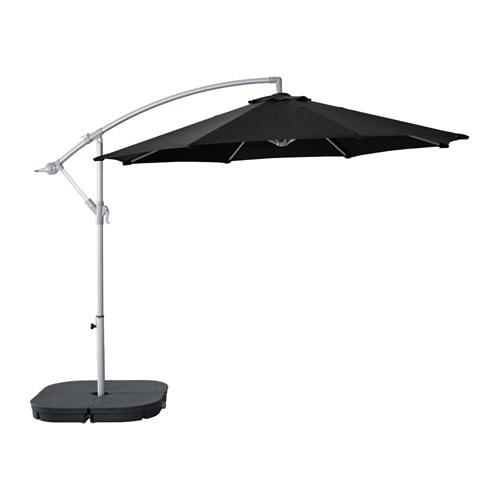 KARLSÖ Parasoll, fritthengende , svart Diameter: 300 cm Høyde: 260 cm