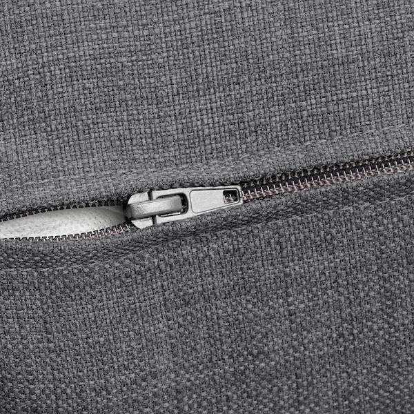 KIVIK trekk til 3-seters sofa Skiftebo mørk grå