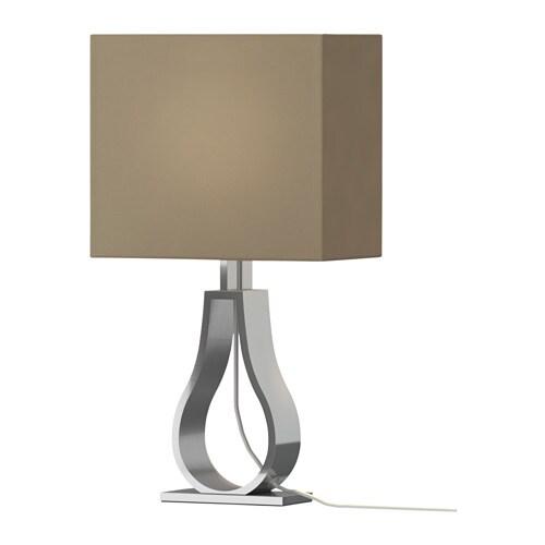 KLABB bordlampe, lys brun