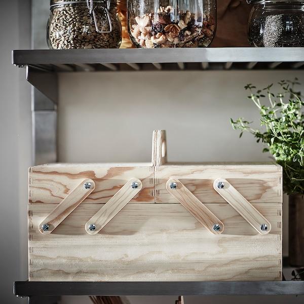 KLÄMMEMACKA Oppbevaring til arbeidsbord, natur kryssfiner, 35x22 cm