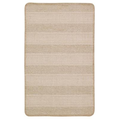KLEJS Teppe, flatvevd, beige/hvit, 50x80 cm