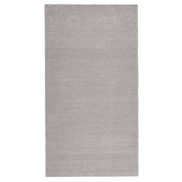 KNARDRUP Teppe, kort lugg, lys grå, 80x150 cm