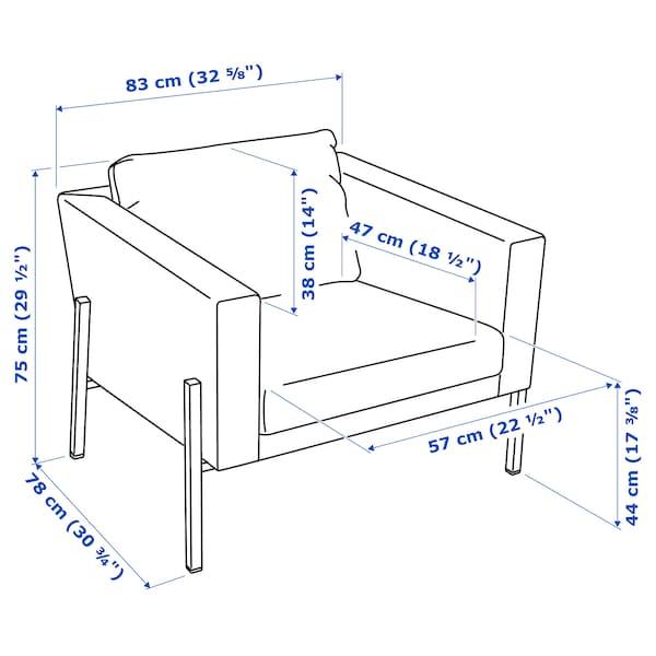 KOARP lenestol Gunnared beige/svart 75 cm 83 cm 78 cm 20 cm 62 cm 57 cm 47 cm 44 cm