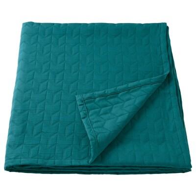 KÖLAX Sengeteppe, mørk grønn, 230x250 cm