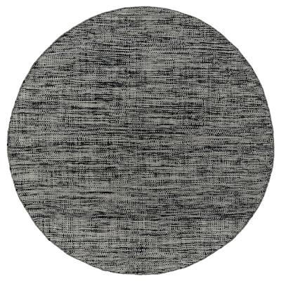KÖPENHAMN Teppe, flatvevd, håndlaget mørk grå, 250 cm