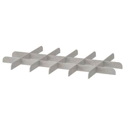 KOMPLEMENT Avdeler for uttrekkbar hylleplate, lys grå, 100x58 cm