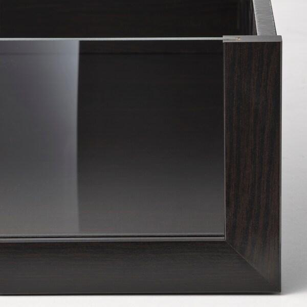 KOMPLEMENT Skuff med glassfront, brunsvart, 50x58 cm
