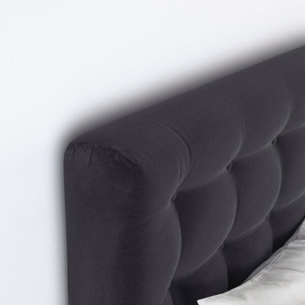 KONGSFJORD kontinentalseng  Hyllestad medium/Tustna mørk grå 217 cm 160 cm 135 cm 200 cm 160 cm
