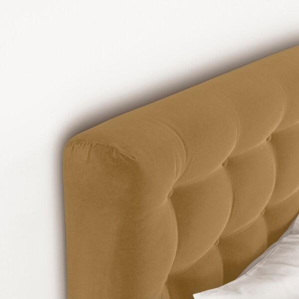 KONGSFJORD Kontinentalseng, Hyllestad fast/Tustna Djuparp gulbeige, 160x200 cm