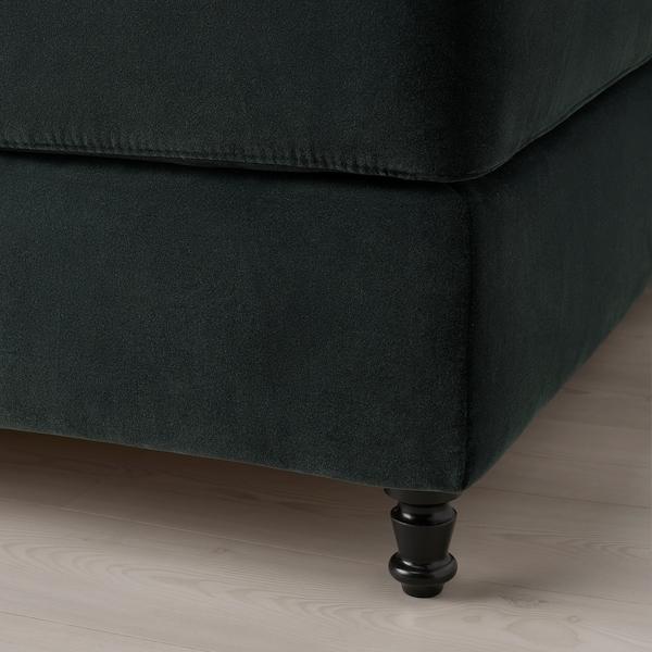 KONGSFJORD Kontinentalseng, Hyllestad fast/Tustna Djuparp mørk grå, 160x200 cm