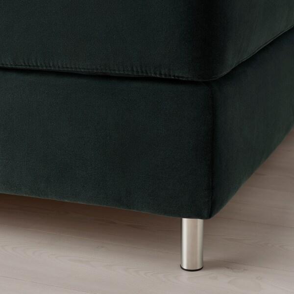 KONGSFJORD Kontinentalseng, Vatneström fast/Tistedal Djuparp mørk grå, 160x200 cm