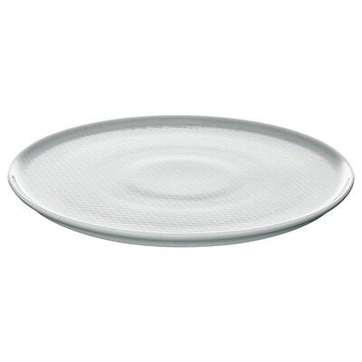KRUSTAD Tallerken, lys grå, 25 cm