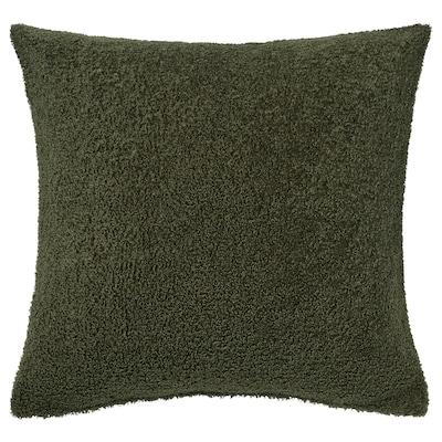 KRYDDBUSKE Putetrekk, mørk grønn, 50x50 cm