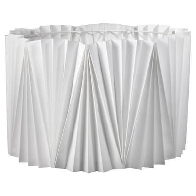 KUNGSHULT Lampeskjerm, plissert hvit, 42 cm