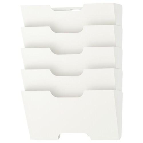 KVISSLE avisstativ til vegg hvit 46 cm 34 cm 9 cm
