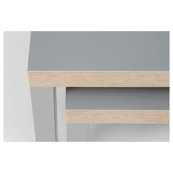 LACK Settbord, sett med 2 stk., grå