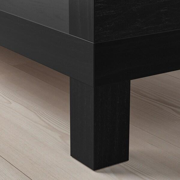 LACK TV-benk, brunsvart, 120x35x36 cm