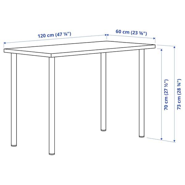 LAGKAPTEN / ADILS Arbeidsbord, brunsvart/mørk grå, 120x60 cm