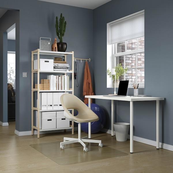 LAGKAPTEN / ADILS Arbeidsbord, hvit, 120x60 cm