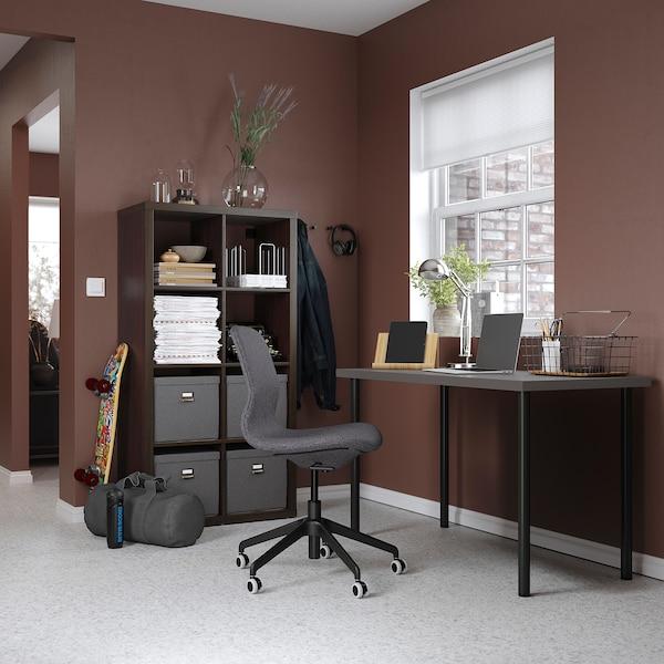 LAGKAPTEN / ADILS Arbeidsbord, mørk grå/svart, 120x60 cm