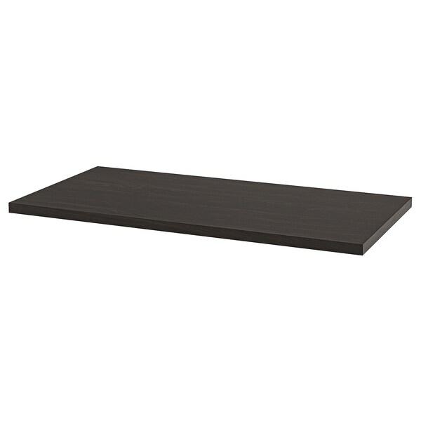 LAGKAPTEN Bordplate, brunsvart, 120x60 cm